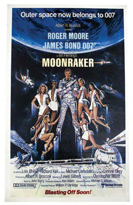 James BOND 007 MOONRAKER (1979) Lot comprenant: • UNE AFFICHE du film, tirage or…