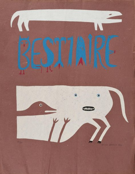Victor BRAUNER Bestiaire, 1963, sérigraphie, 50 x 43 cm, marges 66 x 51 cm, bell…