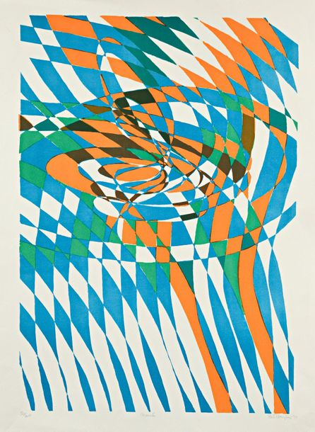 Stanley William HAYTER Noeud, 1972, lithographie, 64 x 45 cm, marges 74,5 x 55 c…