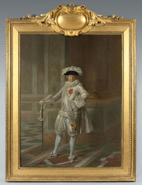 Jean-Martial FREDOU (1710-1795) Portrait du marquis de Courtanvaux (1718-1781) capitaine…