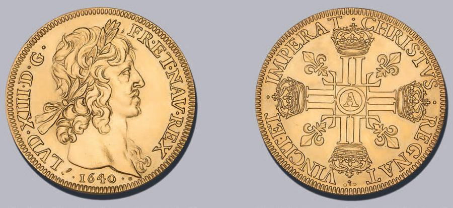 FRANCE Louis XIII: reproduction de la pièce au type du 8 Louis d'or. 39,75 g. Or…
