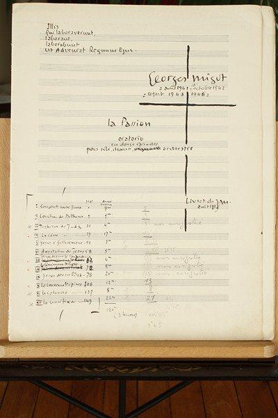 Georges MIGOT (1891-1976) Manuscrit musical autographe signé, La Passion, oratorio…