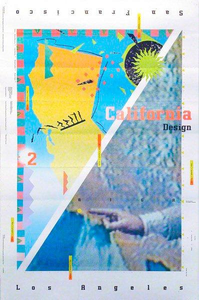 April GREIMAN (XXe siècle) California Design, 1985. Affiche. B.E. (Plis). 92 x 61…