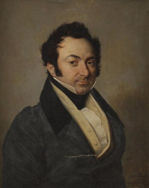 Jules BOILLY (Paris 1796 - 1874) Portrait d'Isidore Lane (1795 - Toulouse en 1759)…