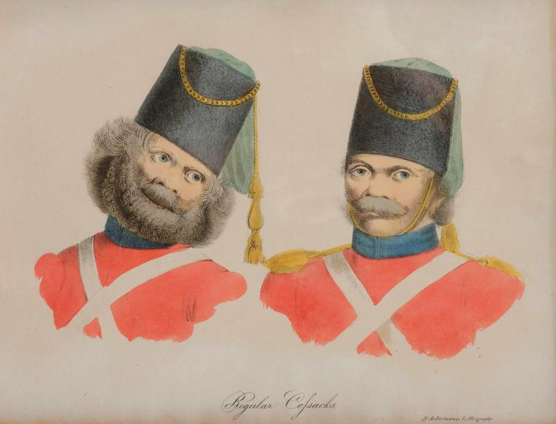 Rudolph ACKERMANN (1764-1834) Regular Cossacks Lithographie coloriée à la main.…