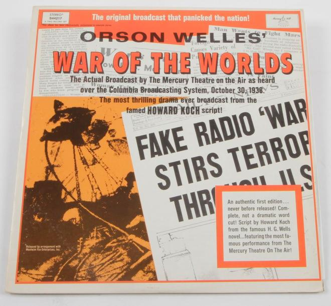 ORSON WELLES « War Of The Worlds » Longines Symphonette Society, U.S.A. 1968. Impression…