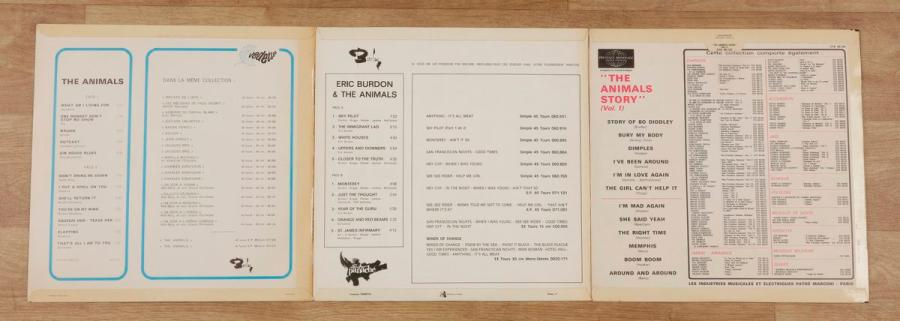 THE ANIMALS Lot de 3 disques années 60. 31 x 31 cm - 12 x 12 inches