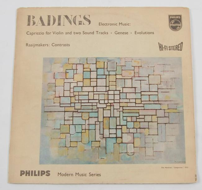 MONDRIAN « Badings » Philips, Hollande. 31 x 31 cm - 12 x 12 inches