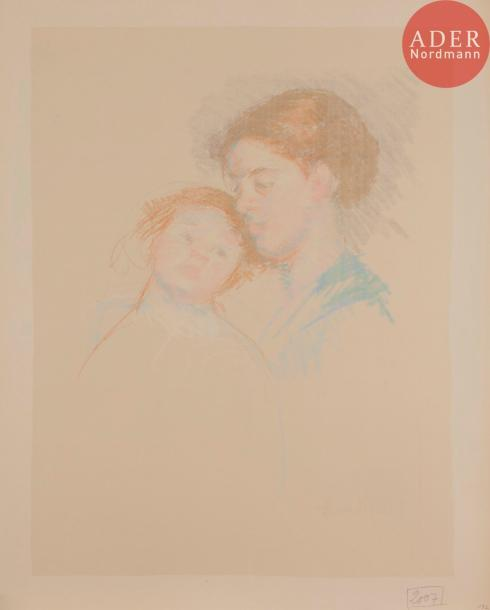 Mary CASSATT Mary CASSATT Child Leaning against her Young Mother. Vers 1913. Contre-épreuve…