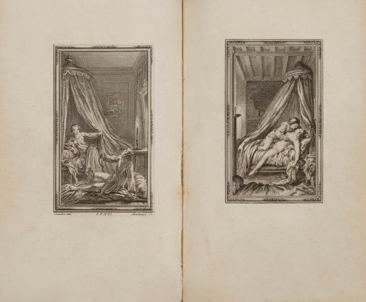 BOCCACE. Le Decameron. Londres [Paris], 1757-1761. — 5 volumes in-8, 197 x 125 :…