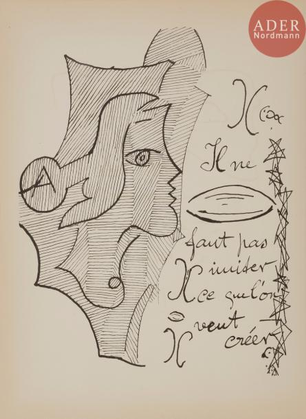 BRAQUE (Georges). Cahier de Georges Braque. 1917-1947. Paris : Maeght, [1948]. —…