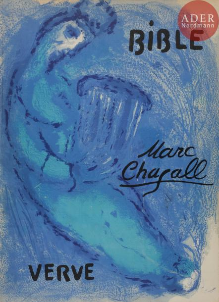 CHAGALL (Marc). Bible. Paris : Éditions de la revue Verve, 1956. — Grand in-4, 355 x 263.…