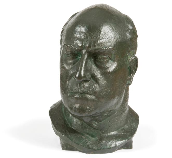 Paul RÖTHLISBERGER (1892-1990) Buste de Lucien Guitry, 1922 Sculpture en bronze…