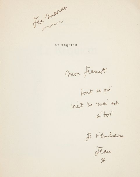 COCTEAU (Jean). Le Requiem. Paris : Gallimard, [1962]. — In-4, 235 x 185 : 173 pp.,…