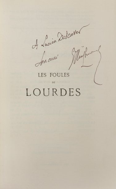HUYSMANS (Joris-Karl). Les Foules de Lourdes. Paris : P.-V. Stock, 1906. — In-18,…