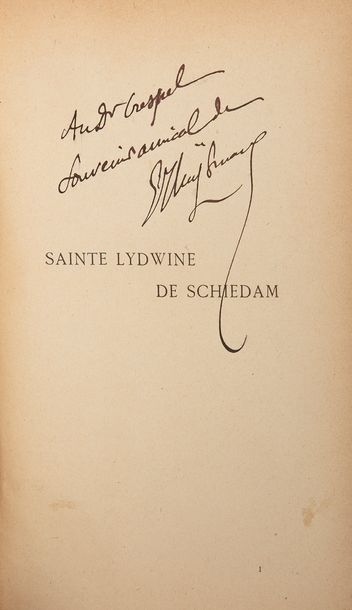 HUYSMANS (Joris-Karl). Sainte Lydwine de Schiedam. Paris : P.-V. Stock, 1901. —…