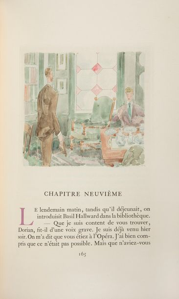 [LABOUREUR (Jean-Émile)] - WILDE (Oscar). Le Portrait de Dorian Gray. Traduction…