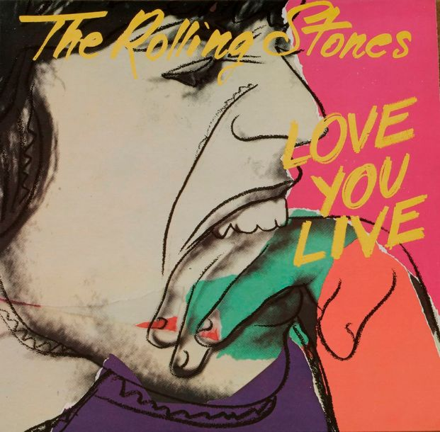 [ANDY WARHOL] THE ROLLING STONES « Love you live » Rolling Stone COC 89101 Franc…