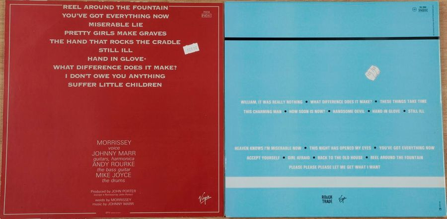 [ANDY WARHOL] THE SMITHS. Lot de deux disques 33 T : « Hatful of hollow » Virgin…