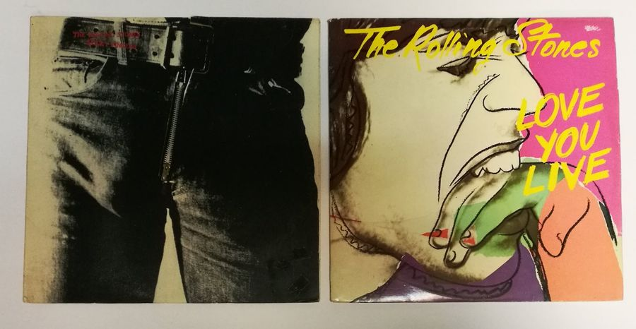 [ANDY WARHOL] Lot de deux 33 T The Rolling Stones « Sticky Finger » (1971) et « …