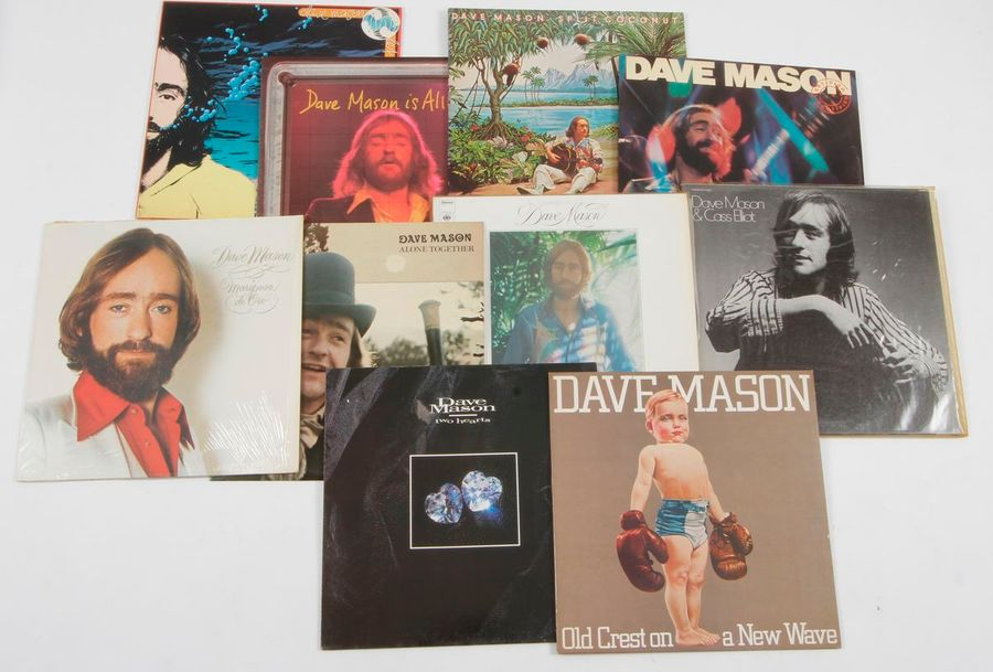 DAVE MASON Ensemble de 10 disques 33 T. 31 x 31 cm 12 x 12 inches