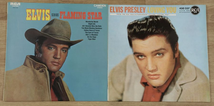 ELVIS PRESLEY 2 disques « Flaming star » RCA 900.058 France 1971 et « Loving You…
