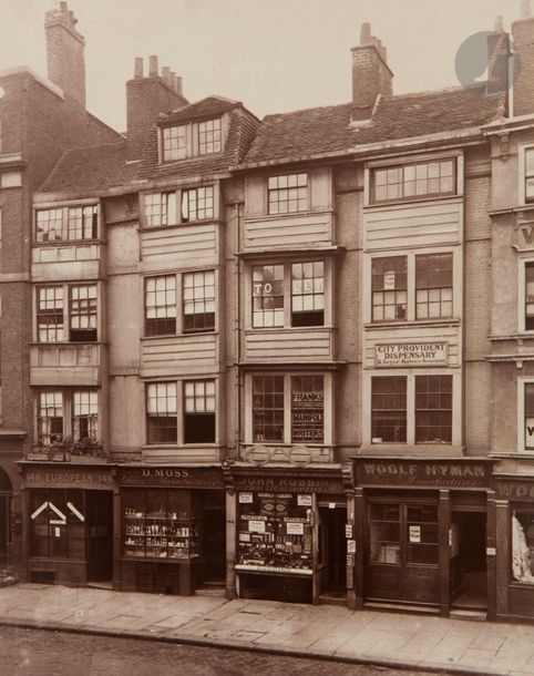 Henry Dixon (1820-1893) Relics of old London, 1867-1880. Old Houses in Alderscate…