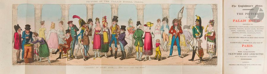 [CRUIKSHANK (George)]. The Englishman's Mentor. The picture of the Palais-Royal…