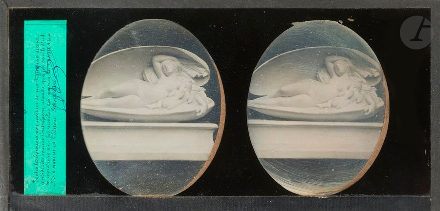 [PHOTOGRAPHIES - PRADIER (James) - LEMAIRE (Antoine Louis)]. Ensemble de 3 daguerréotypes…
