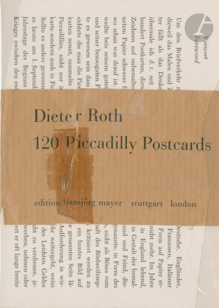 ROTH, DIETER (1930-1998) 120 Piccadilly Postcards. Édition Hansjörg Mayer, 1977.…