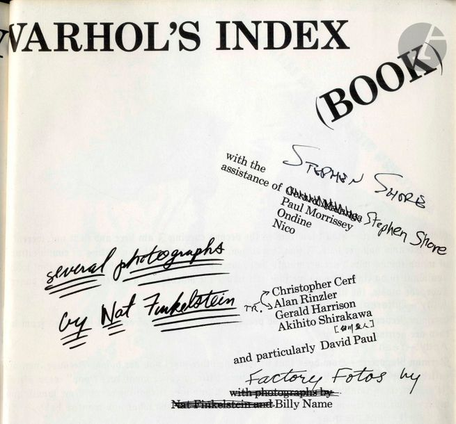 WARHOL, ANDY (1928-1997) Andy Warhol's Index. Random House, New York, 1967. In-4…