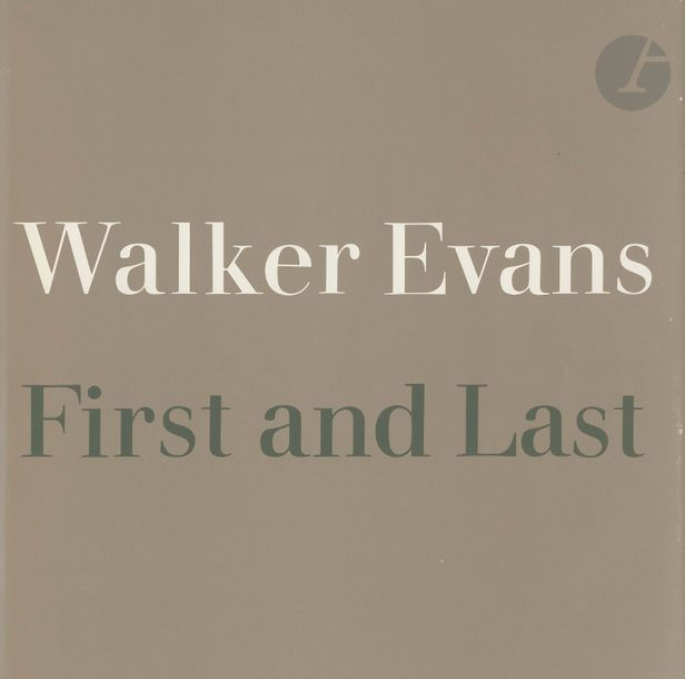 EVANS, WALKER (1903-1975) First and last. Harper & Row, New York, 1978. In-folio…