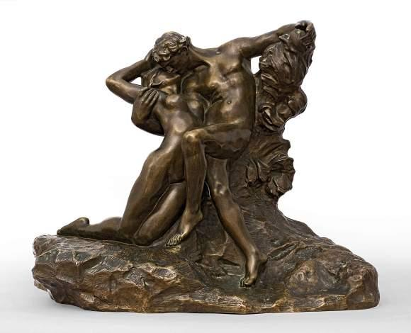 Auguste RODIN (1840-1917) Eternel Printemps. Second état, 3ème réduction. Bronze…