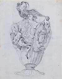 Auction - Giovanni Battista TIEPOLO (1696-1770) Study for a vase with allegorical figures