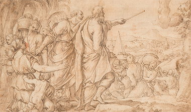 Auction - Alessandro TURCHI (1578-1649) God appearing to Moses as a pillar of smoke