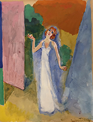 Auction - Kees VAN DONGEN (1877-1968) La Berma in Phèdre (Illustration for Proust, In Search of Lost Time)