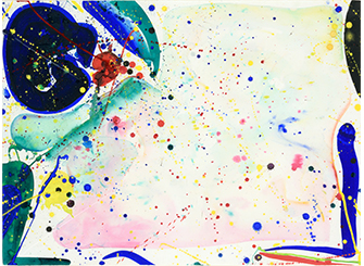 Auction - Sam FRANCIS (1923-1994) BRIGHT RING DRAWING
