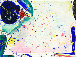 Enchères - Sam FRANCIS (1923-1994) Bright Ring Drawing, 1962 Gouache et aquarelle