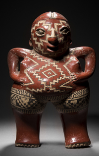 Vénus Callipyge polychrome Culture Chupicuaro, Mexique Occidental Période Préclassique, 400 à 100 avant J.-C. Estimation : 120 000 / 150 000 €