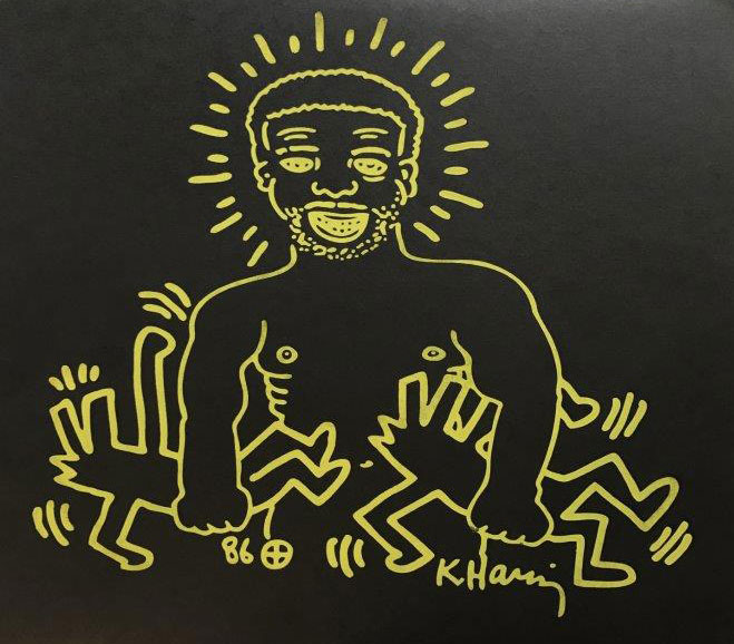 KEITH HARING (1958 - 1990)   Larry Levan - The final nights of paradise