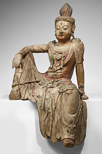 CHINE - Dynastie Song (960-1279)  Importante statue de Guanyin